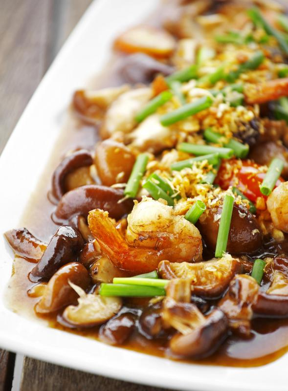 Shiitake mushrooms are commonly used in Asian cuisine.
