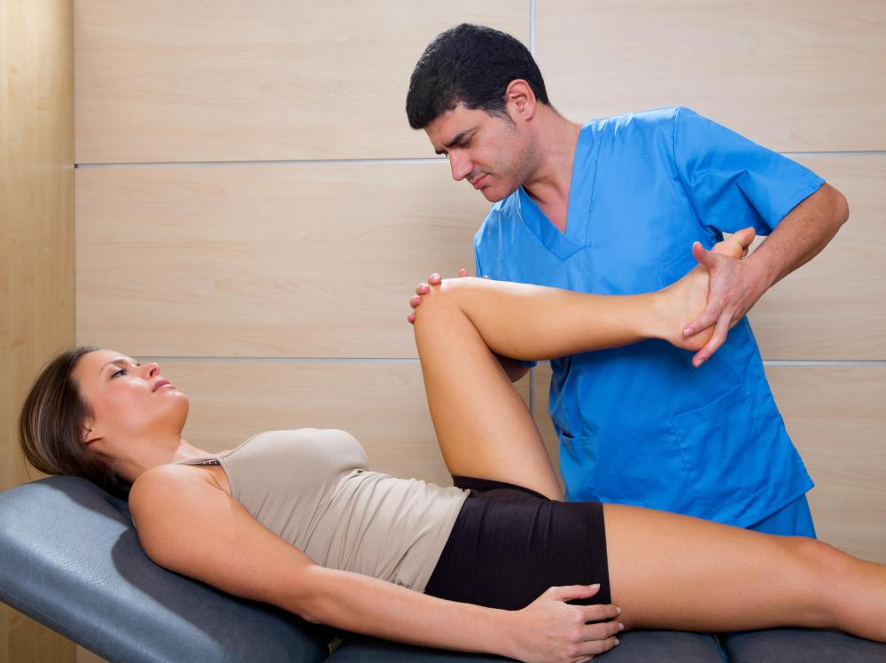 A chiropractor uses body alignment to correct skeletal issues.