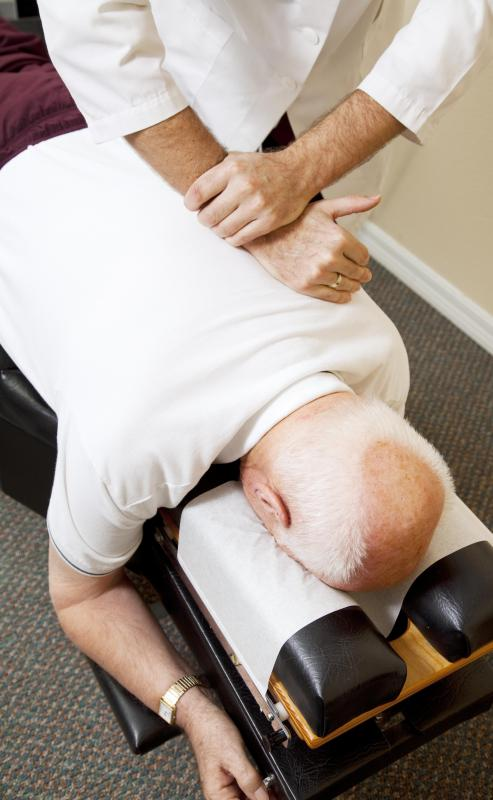 A doctor may refer someone suffering chronic back pain to a chiropractor.