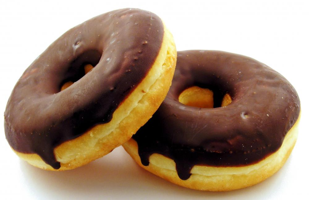 Chocolate glazed donuts.