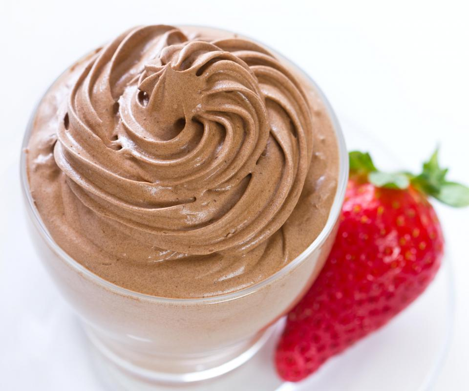 Chocolate mousse is a decadent kind of individual dessert.