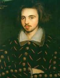 Christopher Marlowe was an English poet and playwright who sometimes used rhyming couplets.
