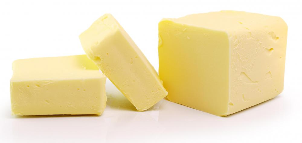 Butter may be used in addition to or in place of lard or shortening.