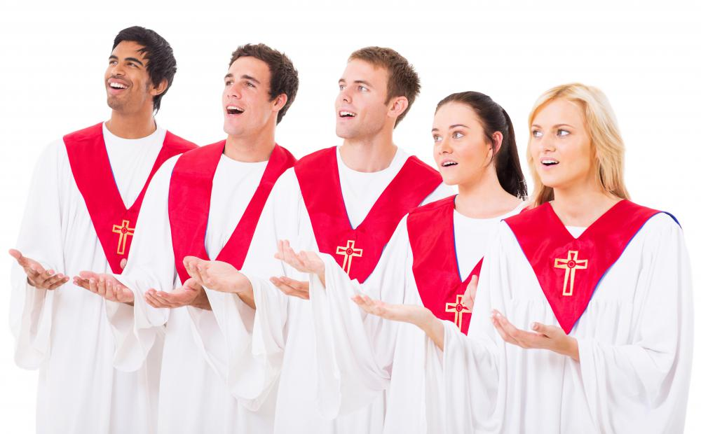 Gospel musicians may perform as part of a church choir.