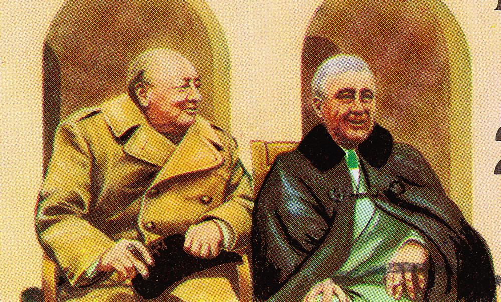 In the middle of the 20th century, Winston Churchill (left) was prime minister of the United Kingdom and Franklin Roosevelt was president of the United States.