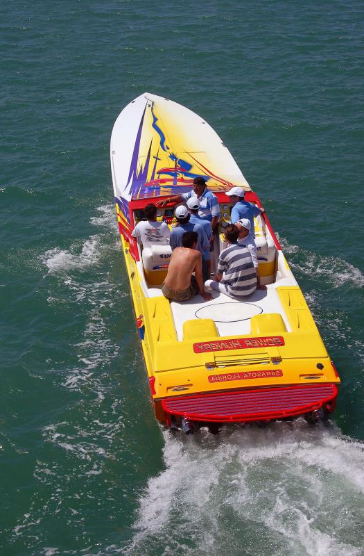 Cigarette boats have a narrow design that allows them to achieve very fast speeds.