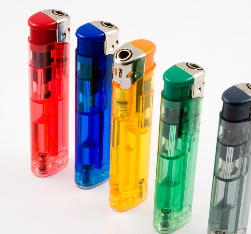 Butane is a common fuel used in inexpensive cigarette lighters.