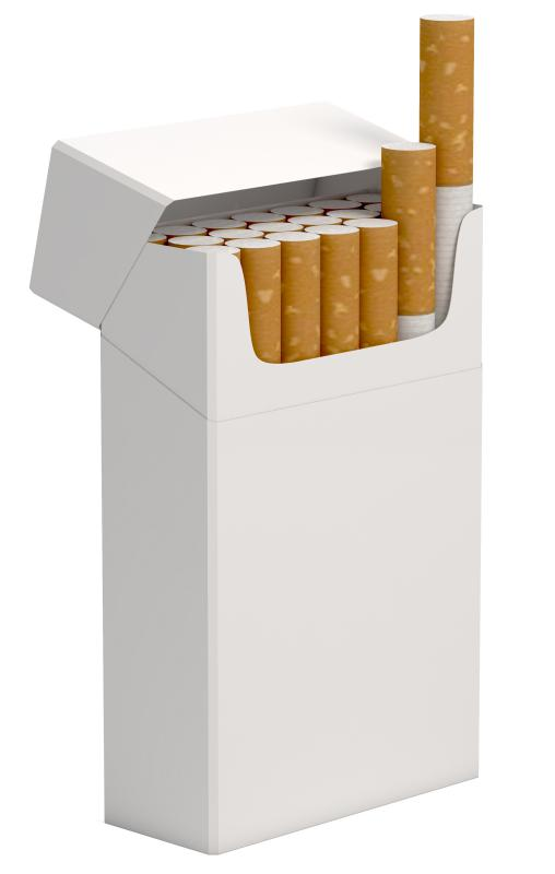 Cigarettes, which are closely associated with lung cancer.