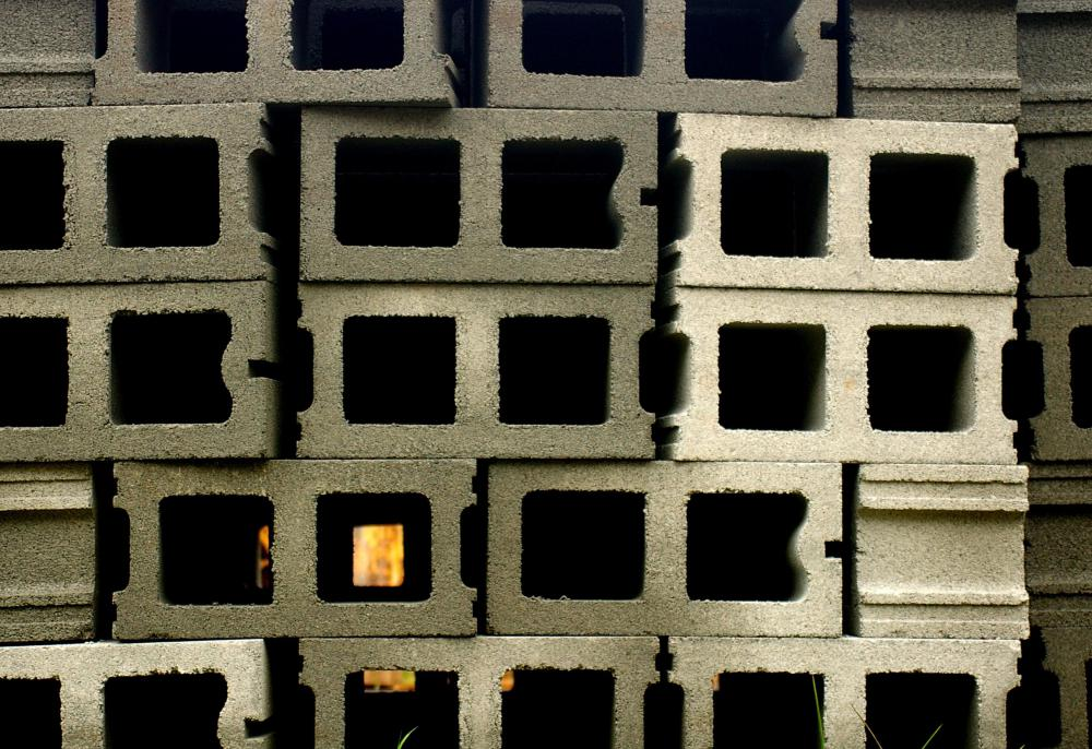 Most Concrete Blocks Have Hollow Chambers.