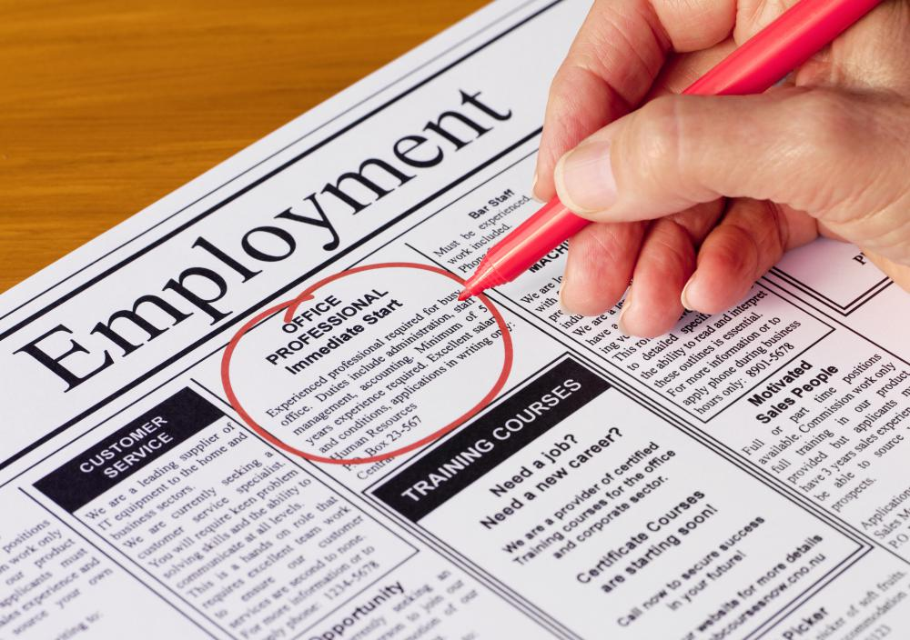 Full employment opportunities may be listed in a newspaper's classified section.