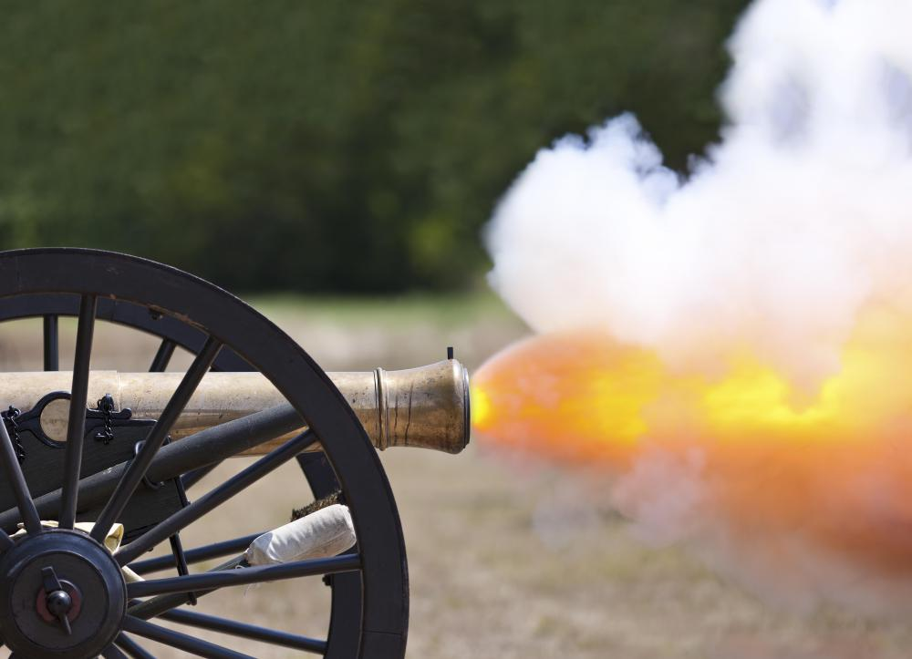 Cannons were used on Civil War battlefields.