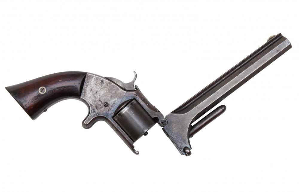 The revolver, which was introduced in the mid 19th Century, was the first firearm to have rapid fire capabilities.