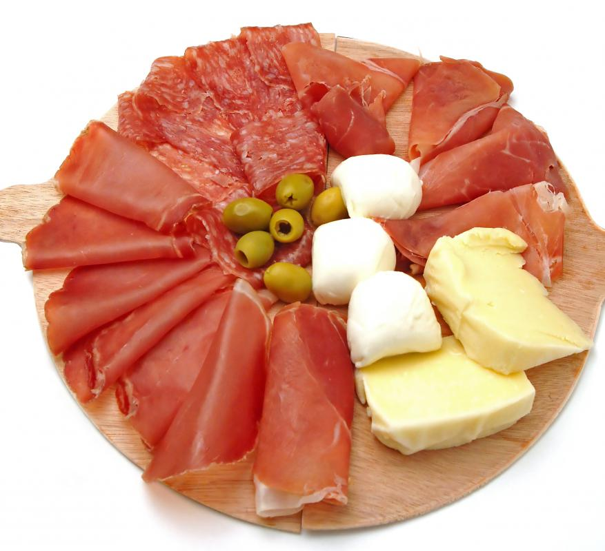 An antipasto platter can work well for an Italian-themed party.