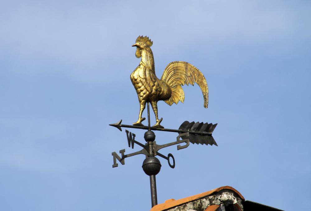 Weather vanes are popular architectural salvage items.