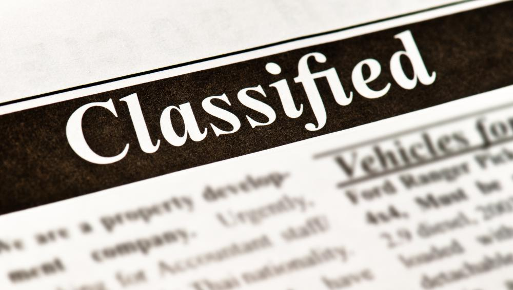 Summer jobs may be posted in the classified section of local newspapers.