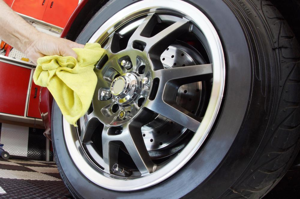 Aluminum wheels weigh less than chrome-plated steel wheels.