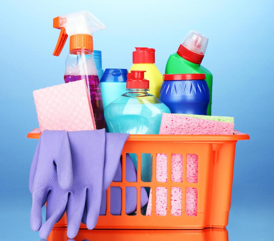 Cleaning products may be used to remove hard water spots.