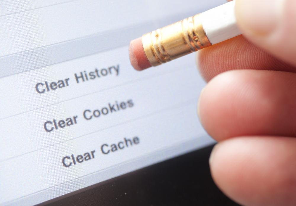 Most internet browsers make it fairly simple to delete the browsing history.