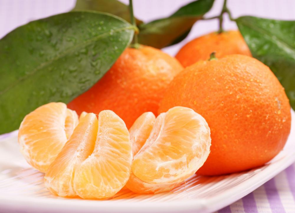 Clementines are high in vitamin C.