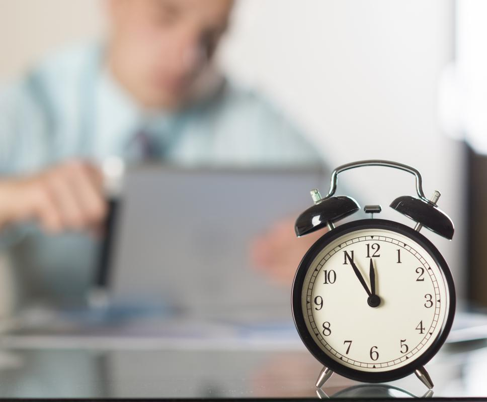Some people rely on clocks to help them with time management.