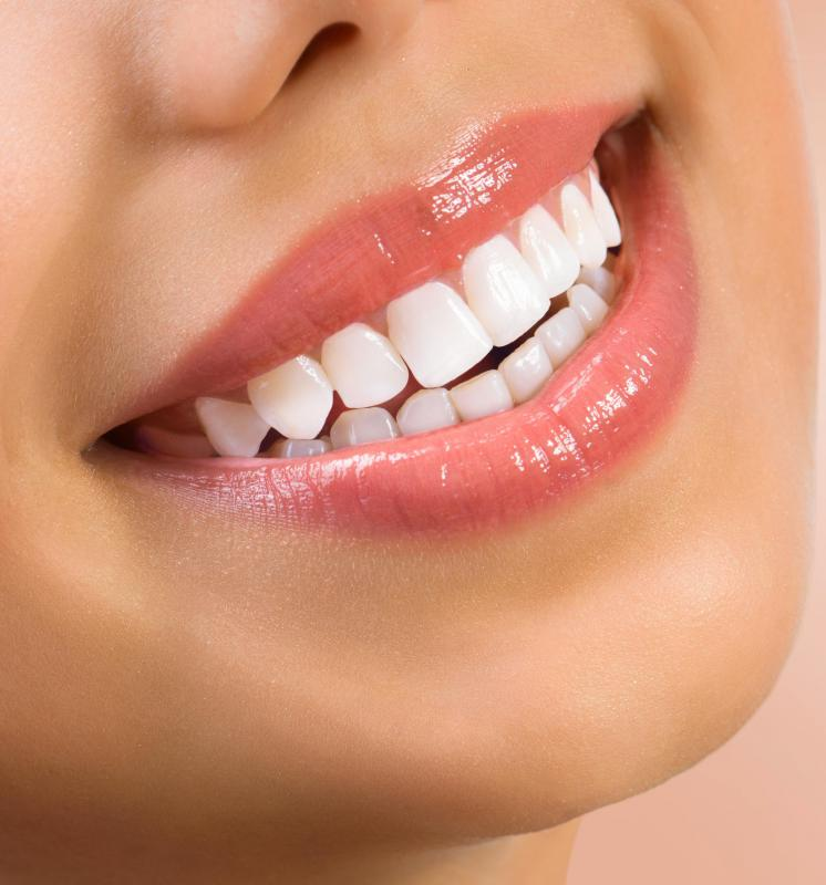 Human teeth are naturally white, but the can become darker and stained over time.