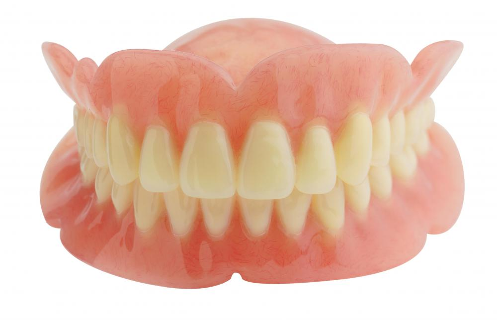 Dentures are a type of prosthetic device.