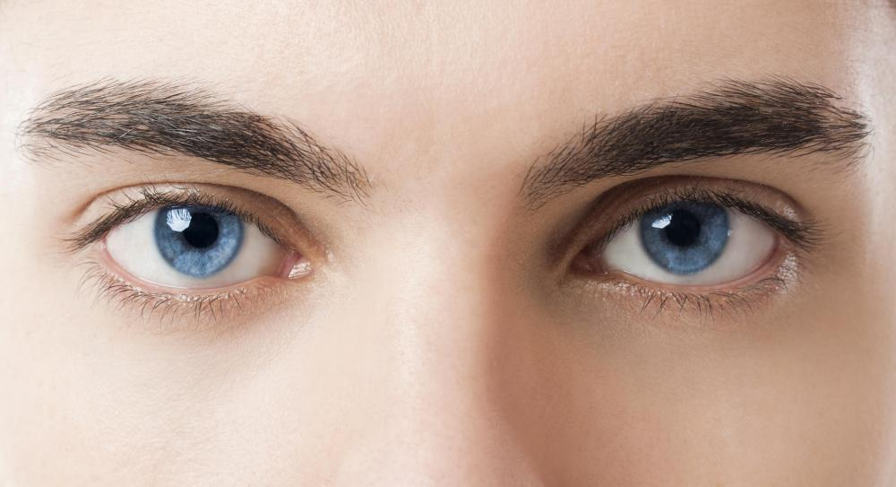 Someone who has two copies of a recessive trait, such as blue eyes, will express that trait.