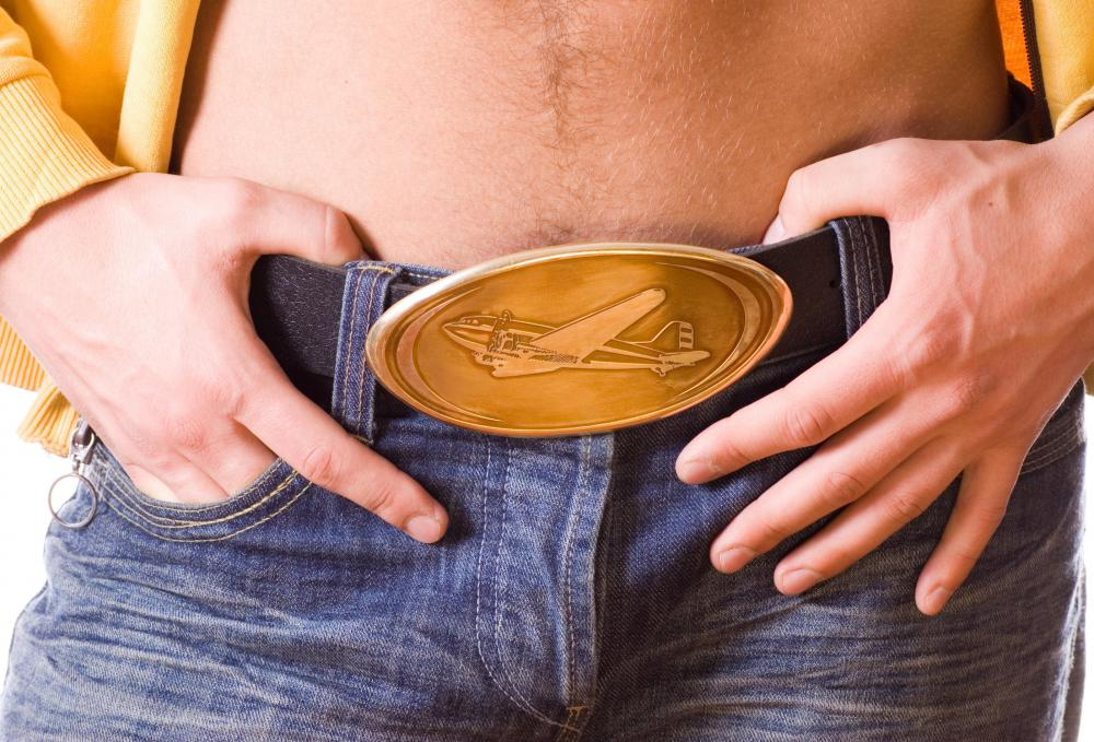 Many people pair a Western belt buckle with cowboy boots.