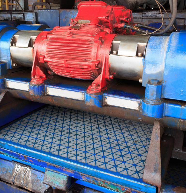 Drilling fluids are cleaned using special equipment such as the shale shaker and then reused.
