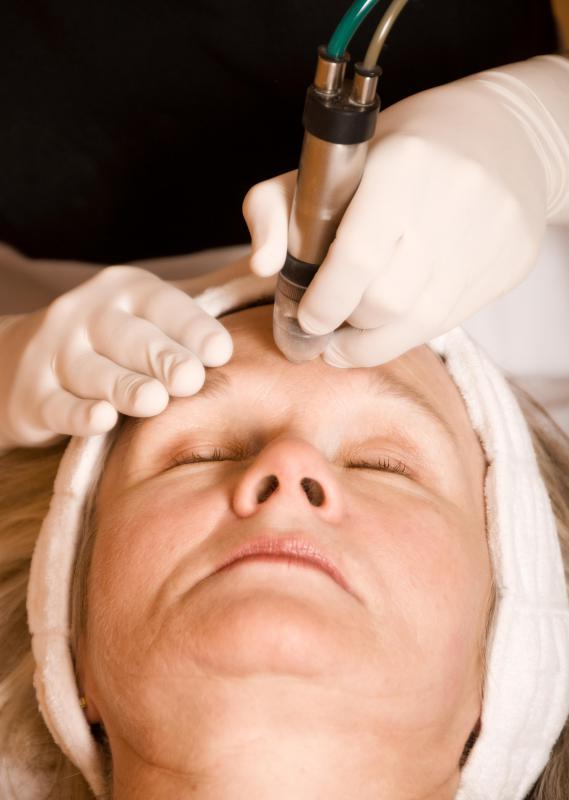 Galvanic electrolysis is often used in the eyebrow region.
