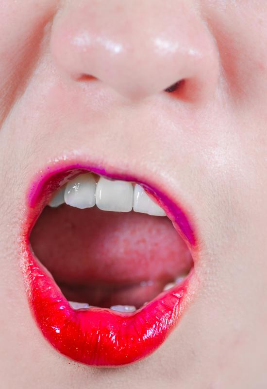 A gleeker rolls back his or her tongue to help the release of saliva.