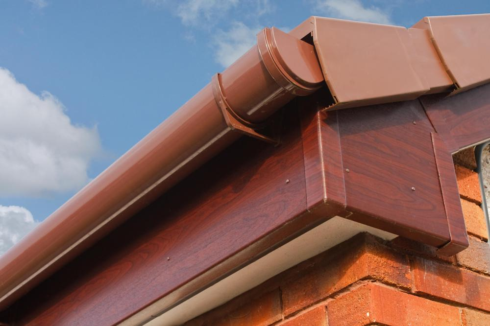 Roof gutters should be cleaned regularly to avoid clogs.