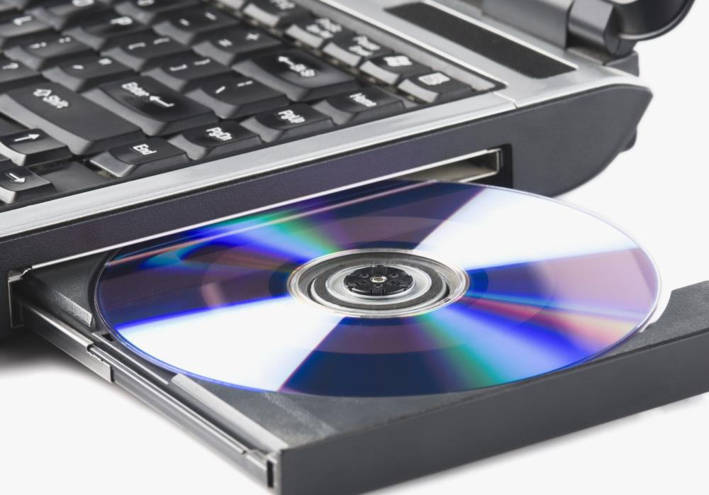 CDs and DVDs can be used for data storage on a laptop computer.