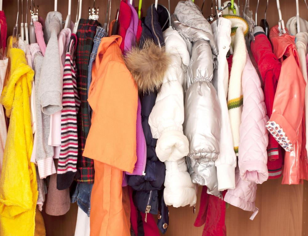 Someone who is hoarding old clothing might end up with a cluttered closet.