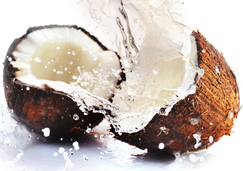 Coconut husks are commonly used to provide the charcoal in carbon water filtration systems.