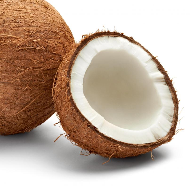 Coconut meat is edible.