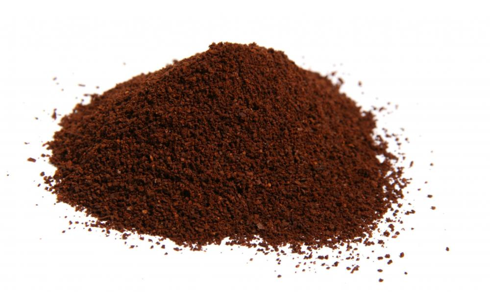 Coffee grounds.