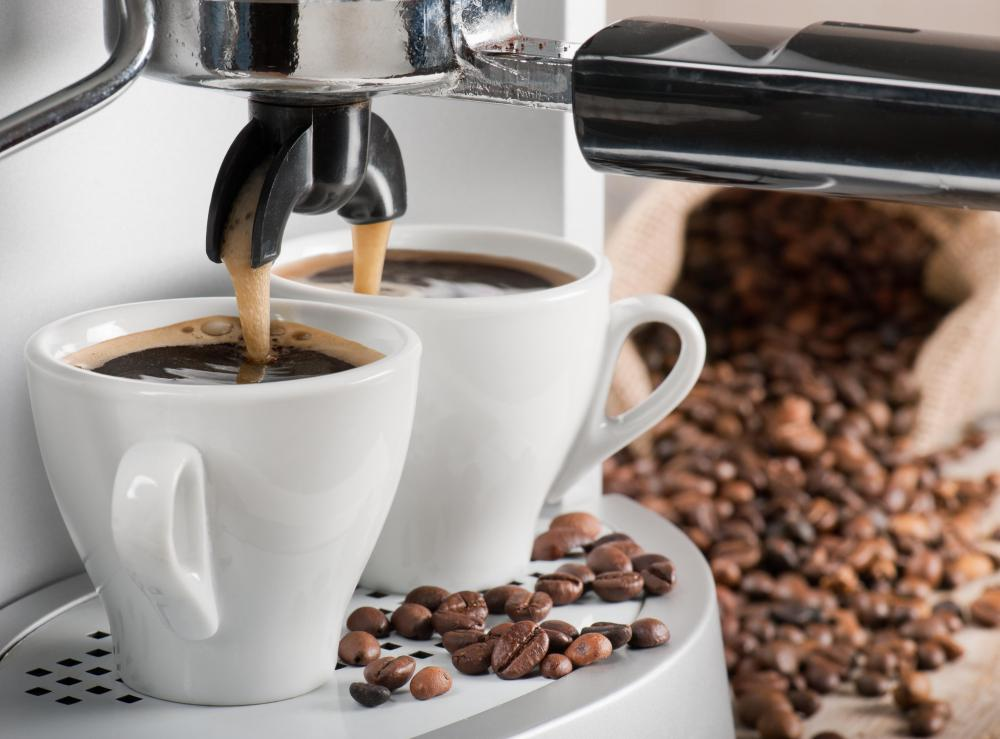 Eye twitching can be a result of drinking espressos, which have high amounts of caffeine.