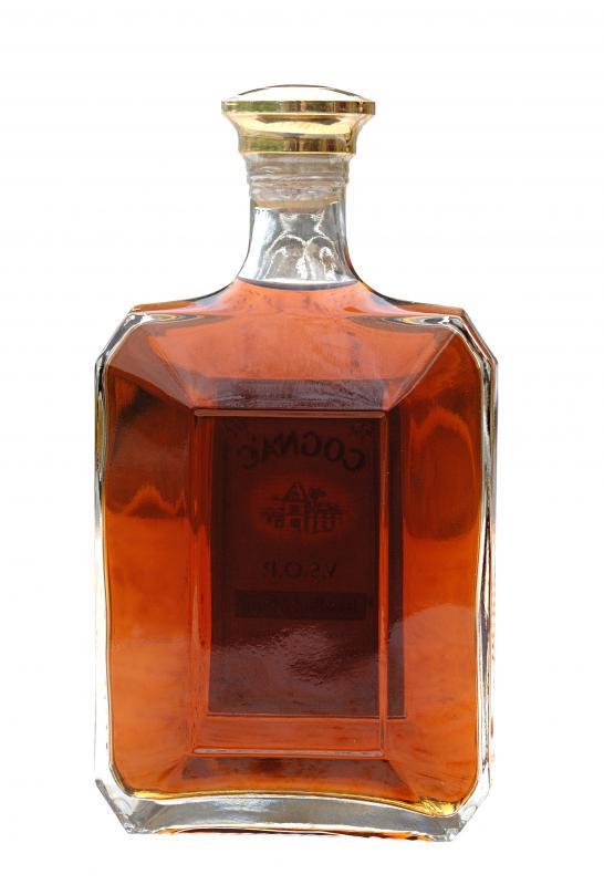 A bottle of cognac.