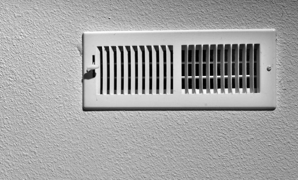 A vent cover over an air duct.