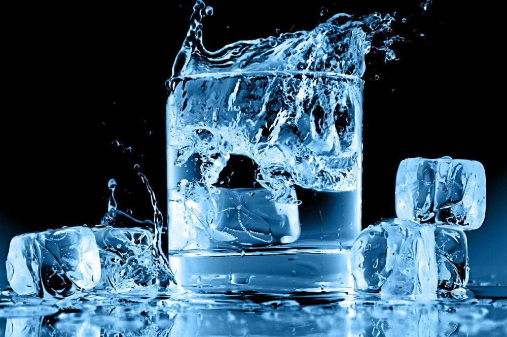 Drinking cold water can help reduce swelling from a tongue piercing.