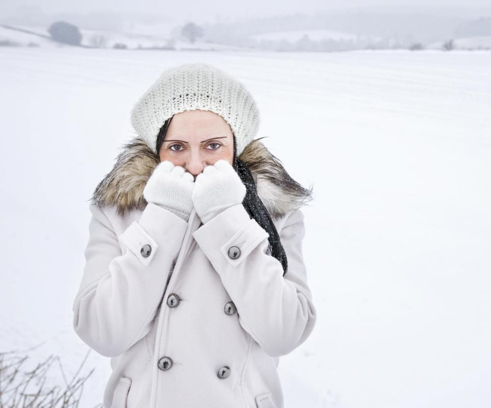 In cold weather the body has to work harder to warm up the air that is inhaled.