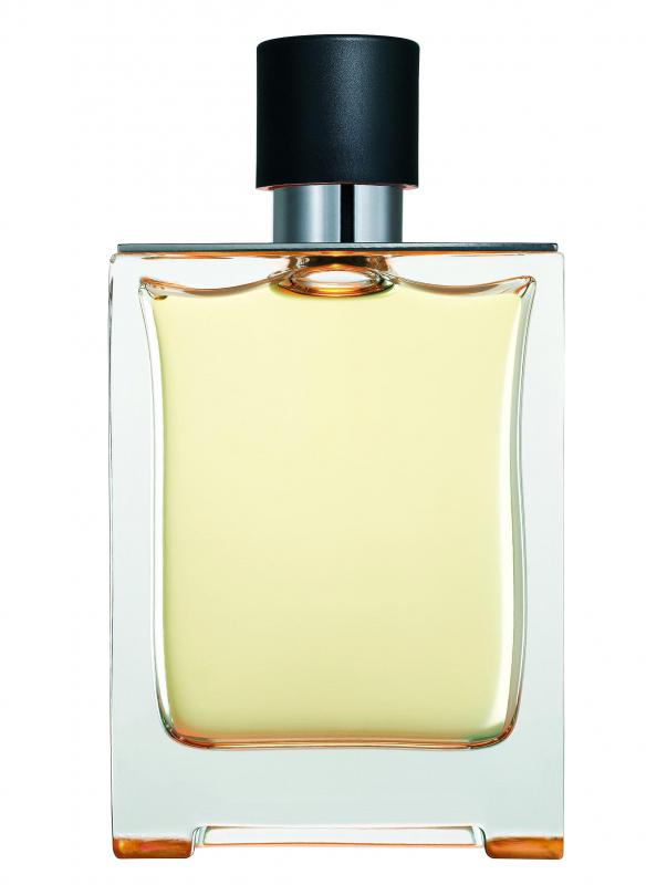 A bottle of perfume.