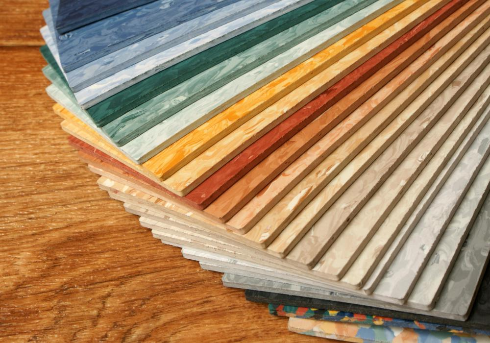 Modern linoleum is often made from PVC.