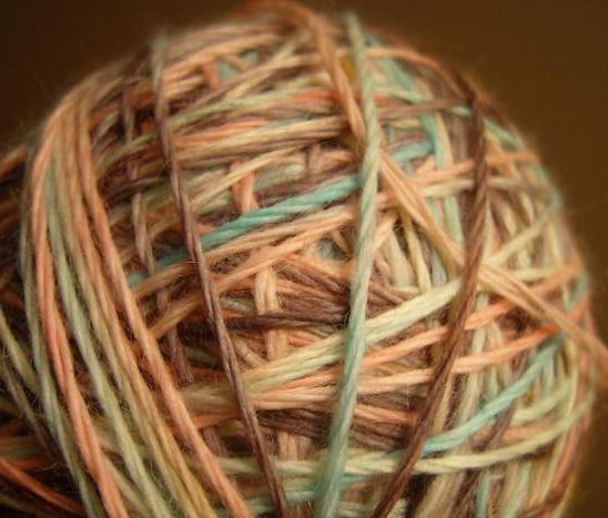 Chenille yarn is ideal for knitting and crocheting.