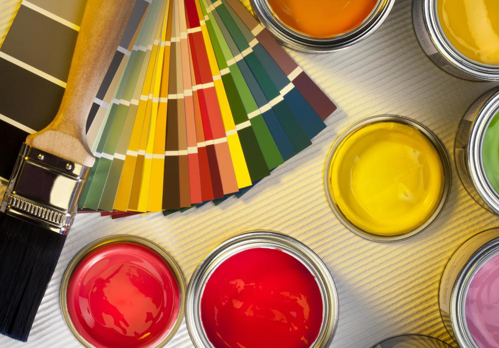 Latex paint applies smoothly and wears well in both interior and exterior use.
