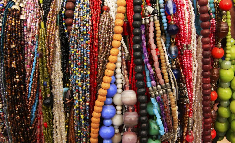 Costume jewelry is typically made of plastic instead of glass.