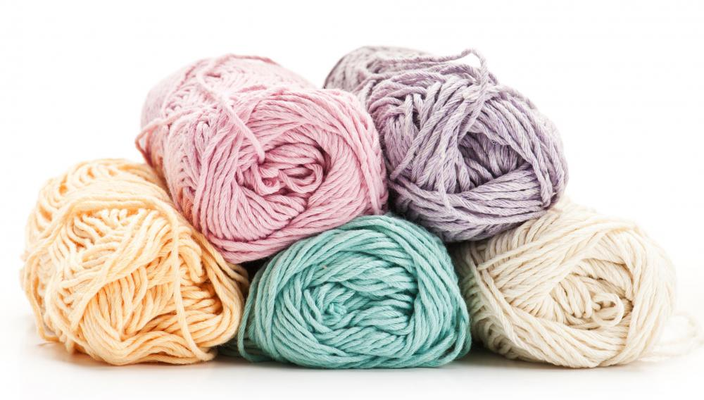 Many types of crafts use wool yarn.