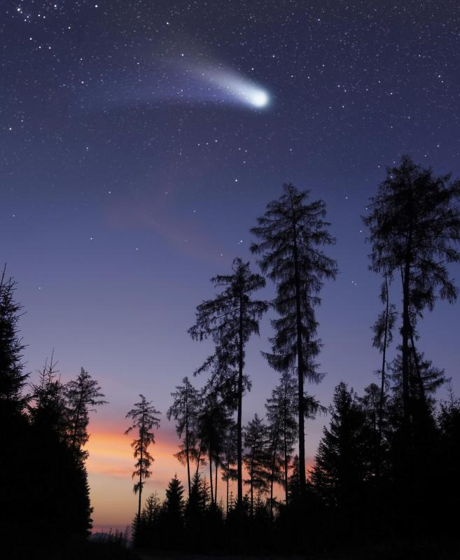 Meteorites enter the Earth's atmosphere.