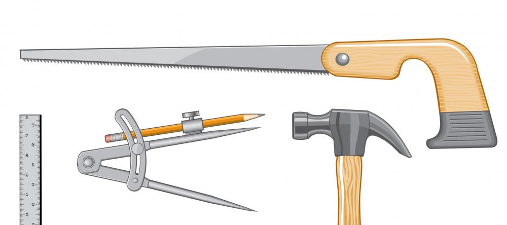 A compass saw may be used in confined spaces where larger saws are impractical.